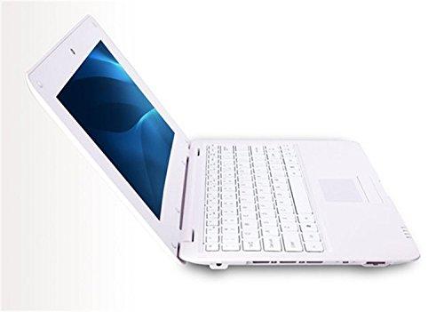 Jcw® Netbook – Ordinateur portable ultraléger – Google Android 5.0 Lollipop- Wifi – Ethernet – Webcam – 4 GO DD 512 Ram – Ecran 10.1 pouces – Blanc