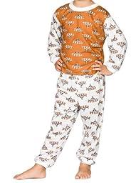 Texas UT Longhorns Big Boys Unisex Long Sleeve 2-Piece Pajama Set, Size 12