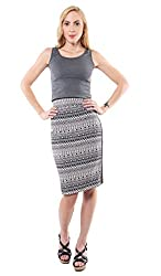 iamme Printed Pencil Skirt