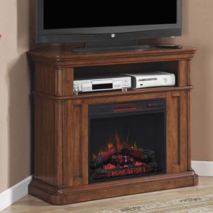 Classicflame Oakfield Wall Corner Infrared Electric Fireplace Media Center In Pecan