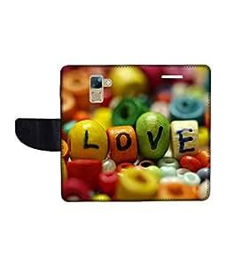 KolorEdge Printed Flip Cover For Huawei Honor 7 Multicolor - (1478-50KeMLogo10611Honor7)