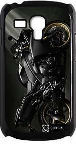 Coque pour Samsung Galaxy S3 mini - Moto noire - ref 14
