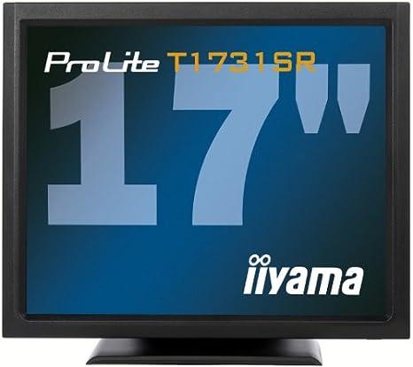 Iiyama - ProLite T1731SR-B1 - Écran LCD - 17'' - écran tactile - 1280 x 1024 - TN - 200 cd m2 - 900:1 - 5 ms - DVI-D, VGA - haut-parleurs - noir