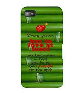 EPICCASE love atleast Mobile Back Case Cover For BlackBerry Z10 (Designer Case)