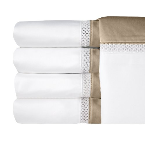MADE IN THE USA Duet 300TC 100% Cotton Sateen Sheet Set, Queen, Taupe By Veratex (Usa Made Sheets compare prices)
