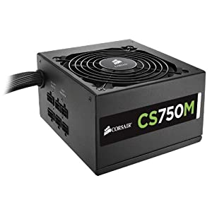 Corsair CP-9020078-UK Builder Series 750W CS750M ATX/EPS Semi-Modular 80 Plus Gold Power Supply Unit