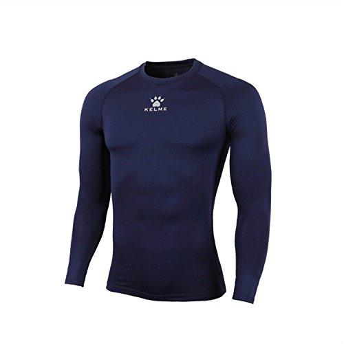 Kelme elastico a maniche lunghe collant Pratice Calcio Maglietta traspirante sudore, uomo, Navy Blue, L