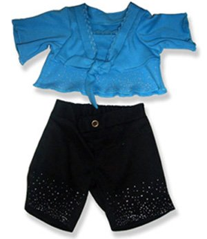 Blue Top  Black Pants Outfit Teddy Bear Clothes