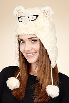 Faux Fur Owl Trapper Hat