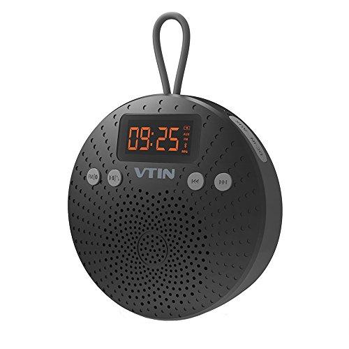 Altavoz Bluetooth de Ducha VicTsing, Impermeable IPX5 Con Radio Despertador (FM)y Manos libres, 10 HORAS de Emisión Continua Para HuaWei, XiaoMi, Samsung, Nexus, HTC, iPhone y iPad, etc.