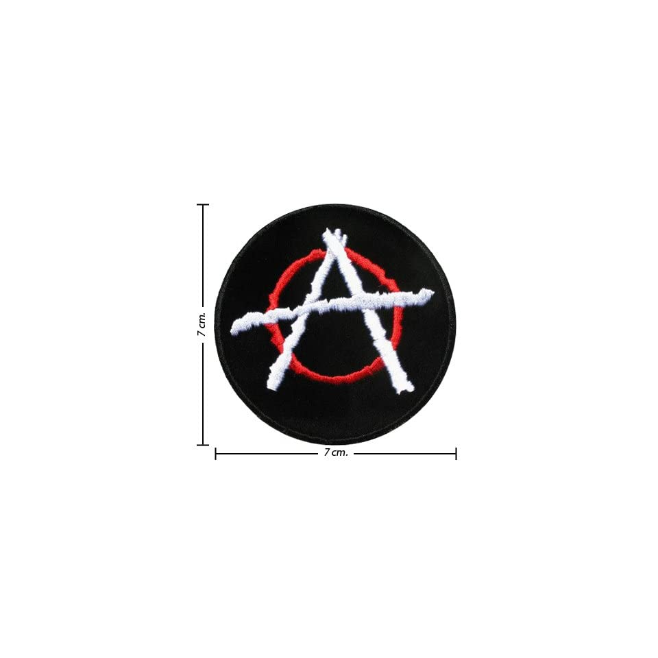 3pcs Punk Anarchy Music Band Logo Ii Embroidered Iron on Patches Kid Biker Band Appliques for Jeans Pants Apparel Great Gift for Dad Mom Man Women  From Thailand   High Quality Embroidery Cloth & 100% Customer Satisfaction Guarantee