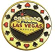 Hand Painted Poker Card Guard Protector - Welcome to Fabulous Las Vegas