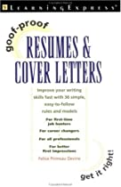 Goof-Proof Resumes & Cover Letters
