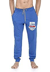 WYO Wear Your Opinion Men's Jogger Track Pant with Zipper Pocket in Run Fall Stand Repeat Printed