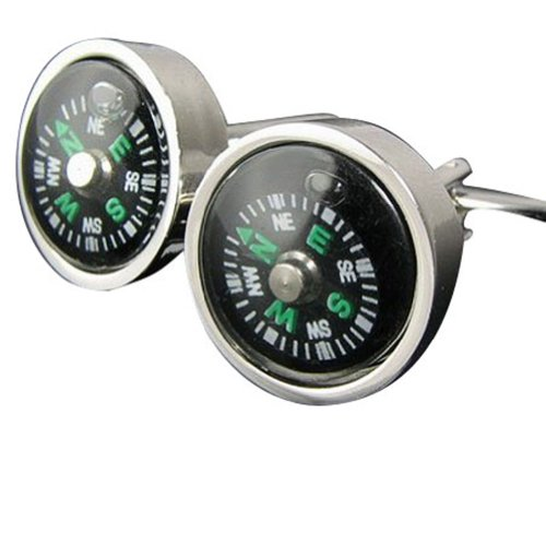 Worldfashion French Utility Compass Cufflinks Amazing Mens Funny Cuff Link Buttons Come In a Nice Gift Box by WorldFashion