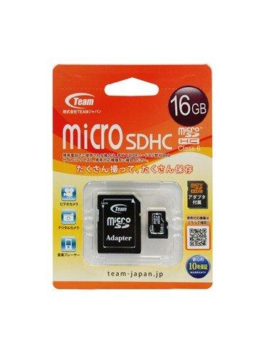 Team Micro SDHCメモリーカード Class6 16GB 黒 TG016G0MC26A
