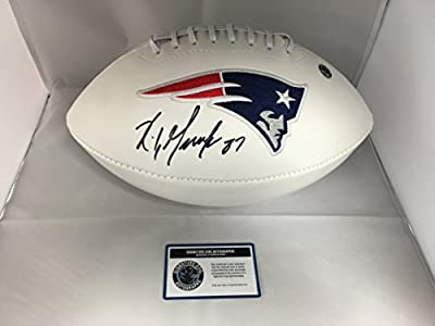 Rob Gronkowski Autographed Signed New England Patriots Logo Football COA & Hologram