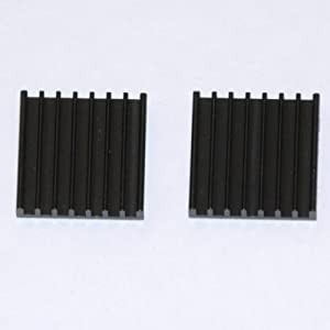 2 Pack of Highly Conductive Black Anodized Aluminum Heatsink with Thermal Self-Adhesive Tape for PC and XBOX Use 21.4 C/W