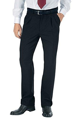 Isacco Pantalone Uomo 2 Pinces - Isacco Nero, Nero, 40, 100% Poliestere, 170 gr/m²