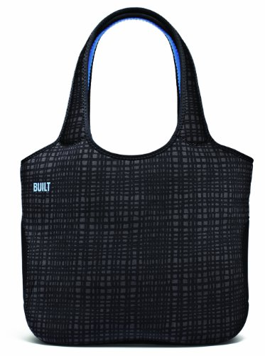 BUILT Neoprene Tote Bag for 13-Inch Apple MacBook or MacBook Pro - Graphite Grid (A-TB13-GGD)