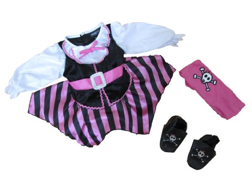 Hallow's Eve Pirate Dress Costume Infant-girls Size 6-9 Months Pink/black