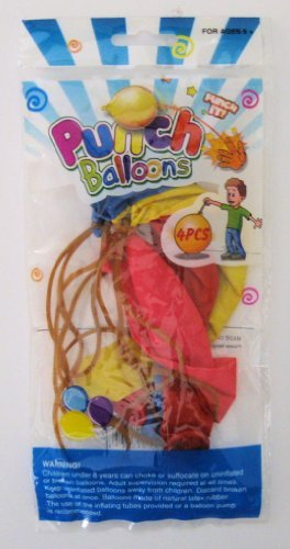 3 Packs of 4pc Assorted Colors Punch Balloons