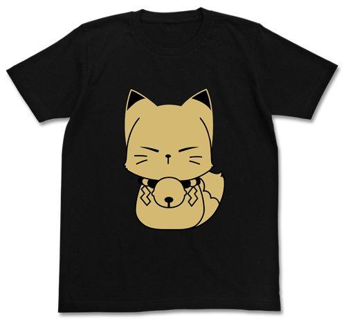繰繰れ!コックリさん コックリさんモフモフTシャツ ブラック サイズ:XL
