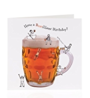 Beerilliant Birthday Card
