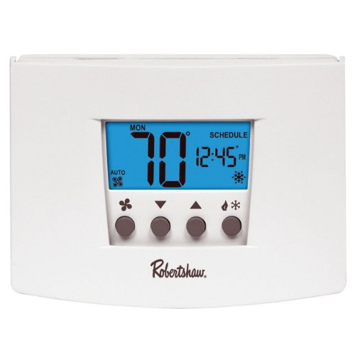 Robertshaw Rs4220 2 Heat/2 Cool Universal Digital Non Programmable Multistage Thermostat front-558608