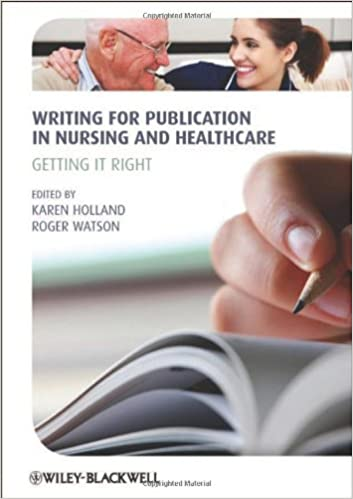 book cover: writing for publication in nursing and healthcare