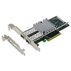 SEDNA - PCIE 8X Dual 10 Gigabit Ethernet Server Adapter - INTEL 82599 Chipset - Intel X520-SR2 - E10G42BTDA Compatible