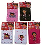 3 Pair Assorted Dora the Explorer Tights (Size 4-6) - Dora the Explorer Girls Fashion Tights