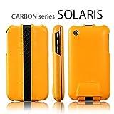SGP アイフォン ケース Carbon Series 【 SOLARIS ORANGE 】 本革 フリップタイプ for iPhone 3G/3GS