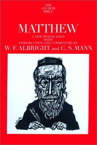 Gospel According to St.Matthew: 26 (Anchor Bible)