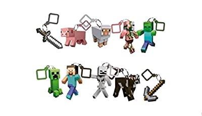 Minecraft Toy Action Figure Hanger Set of 10 (3-Inch) from Minecraft