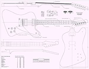 gibson firebird studio electric guitar plans full scale how to build musical. Black Bedroom Furniture Sets. Home Design Ideas