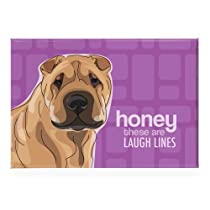 Shar Pei - Honey These Are Laugh Lines - Pop Doggie Refrigerator Magnets with Funny Sayings, Shar Pei Gifts