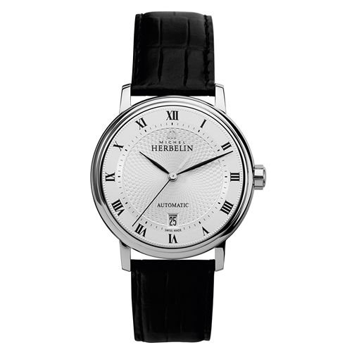 Michel Herbelin Classic Men's Automatic Watch black/silver 1643/08