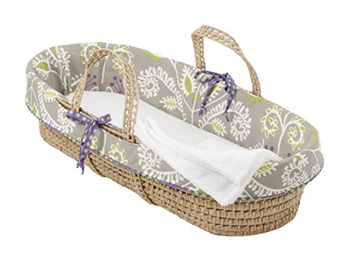 Cotton Tale Designs Moses Basket, Periwinkle/Girl - 1
