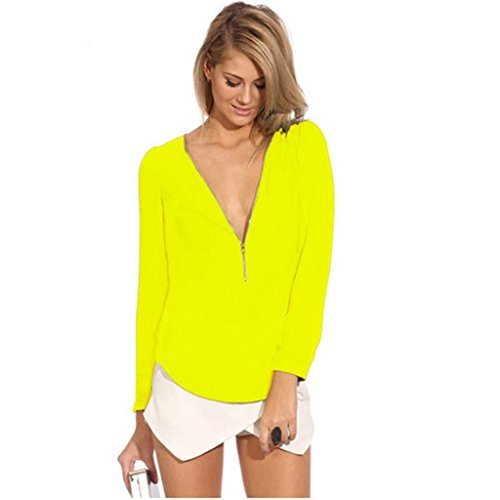 GOEWA - Camicia -  donna Yellow X-Large