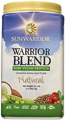 Sunwarrior Warrior Blend Raw Vegan Protein Powder, 2.2 lbs