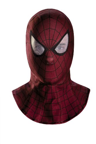 Disguise Men's Marvel The Amazing Movie 2 Spider-Man Adult Fabric Hood, Red/Black, One Size