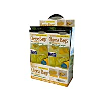 Forever Thick Reusable Antimicrobial Cheese Bags with a Zipper (10-Pack), Measures 9' x 12'