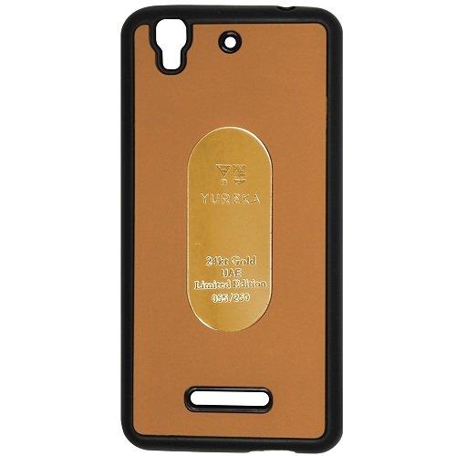 Casotec Metal Back TPU Back Case Cover for Micromax YU Yureka AQ5510 / AO5510 - Gold