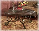 Rafferty Round Cocktail Table by Ashley - Metal (T382-8)