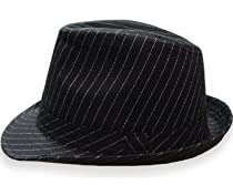 Godfather Pinstripe Fedora Hat (Black)