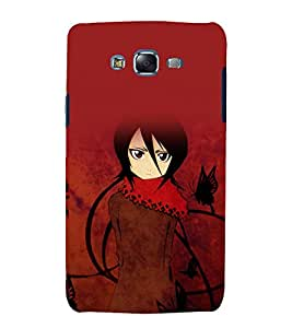 printtech Anime Cute Beautiful Girl Back Case Cover for Samsung Galaxy J1::Samsung Galaxy J1 J100F