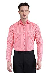 BRAVEZI Striped Slim Fit Casual Shirt For Men