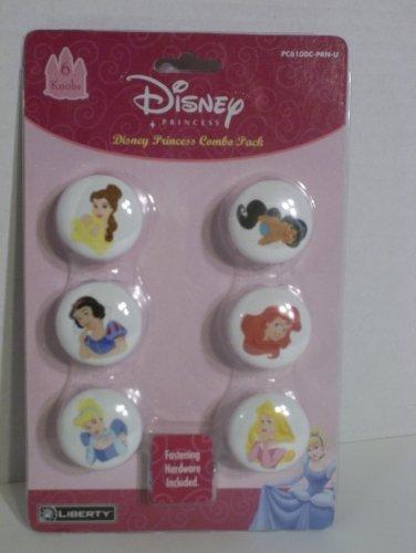 Disney Princess 6 knobs Combo Pack (Disney Ceramic Knobs compare prices)