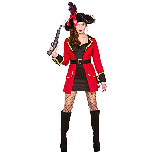 Blackheart Fancy Dress-Costume da capitano dei Caraibi, per Halloween